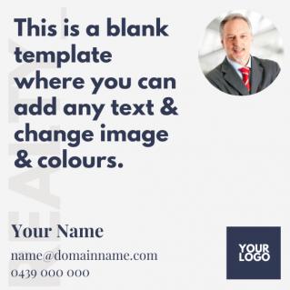 Blank Social Media Post Template 1