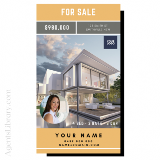 """For Sale / Sold / For Rent  """"Social stories"""" Template 10"""