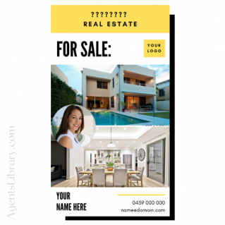 """For Sale / Sold / For Rent  """"Social stories"""" Template 11"""