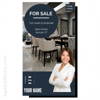 """For Sale / Sold / For Rent  """"Social stories"""" Template 13"""