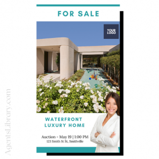 """For Sale / Sold / For Rent  """"Social stories"""" Template 14"""