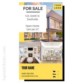 """For Sale / Sold / For Rent  """"Social stories"""" Template 15"""