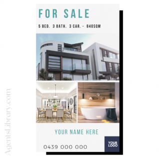 """For Sale / Sold / For Rent  """"Social stories"""" Template 3"""