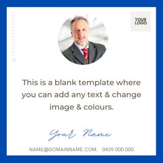 Blank Social Media Post Template 5