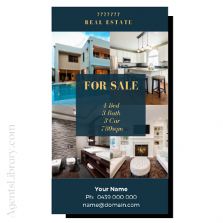 """For Sale / Sold / For Rent  """"Social stories"""" Template 8"""