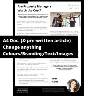 Are Property Managers Worth the Cost? – A4 Template