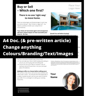 Buy or Sell – Which one first?  – A4 Template