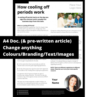 How cooling off periods work  – A4 Template