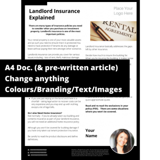 Landlord Insurance Explained – A4 Template