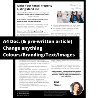 Make Your Rental Property Listing Stand Out – A4 Template