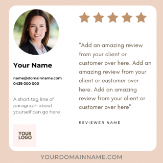 Reviews Social Post – Style 15