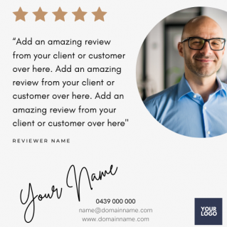 Reviews Social Post – Style 21