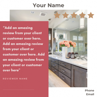Reviews Social Post – Style 27