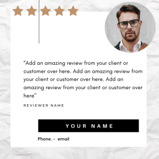 Reviews Social Post – Style 28
