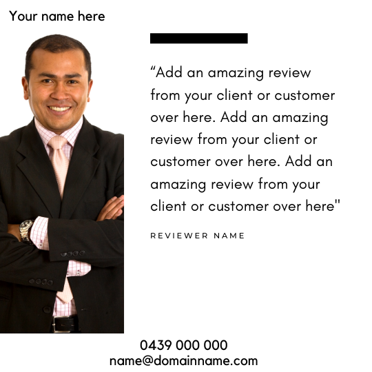 Reviews Social Post – Style 61