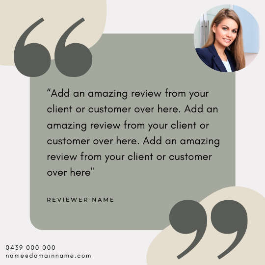 Reviews Social Post – Style – #64