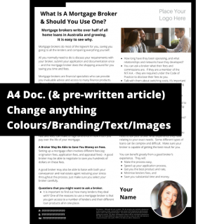 What Is A Mortgage Broker & Should You Use One?  – A4 Template