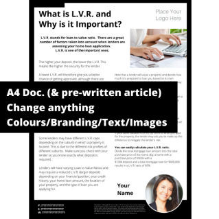 What is L.V.R. and Why is it Important?  – A4 Template
