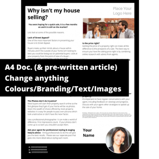 Why isn't my house selling?  – A4 Template
