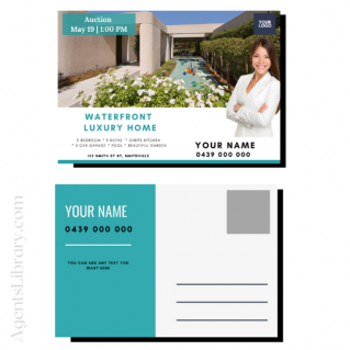 """For Sale / Sold / For Rent  """"Postcard"""" Template #14"""