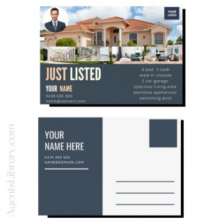 """For Sale / Sold / For Rent  """"Postcard"""" Template #16"""