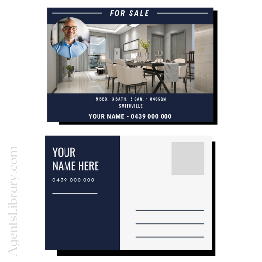 """For Sale / Sold / For Rent  """"Postcard"""" Template #7"""