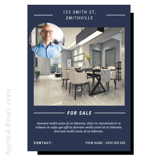 "For Sale / Sold / For Rent  ""A4 print & PDF"" Template #7"
