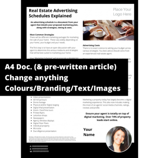Real Estate Advertising Schedules Explained  – A4 Template